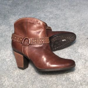 Sofft Womens •Noreen• Studded Bootie - Chocolate
